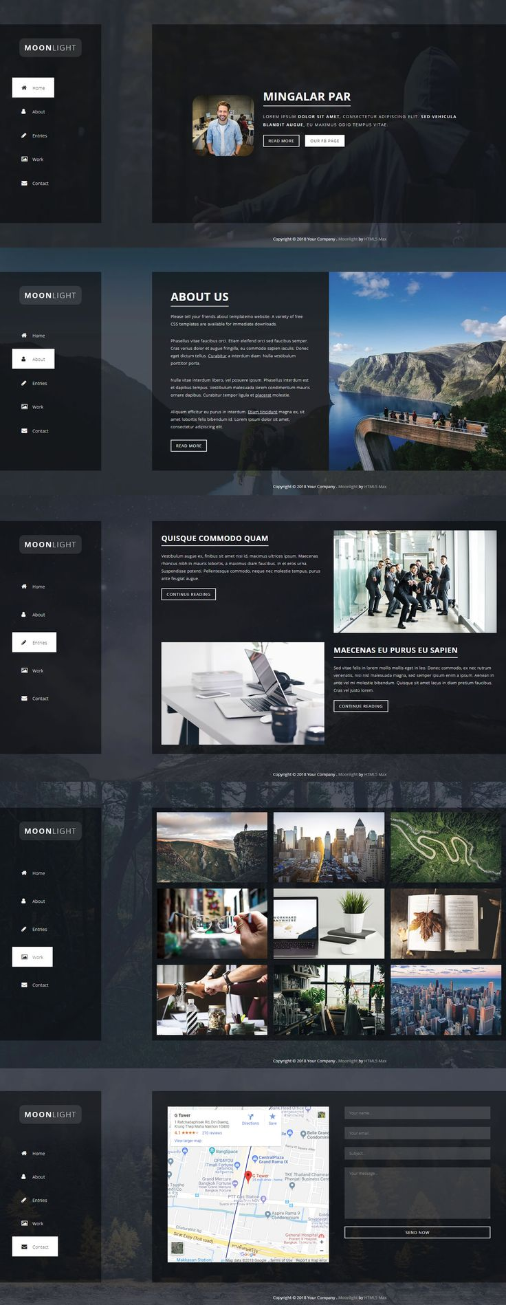 14 best Free html templates images on Pinterest | Role models ...