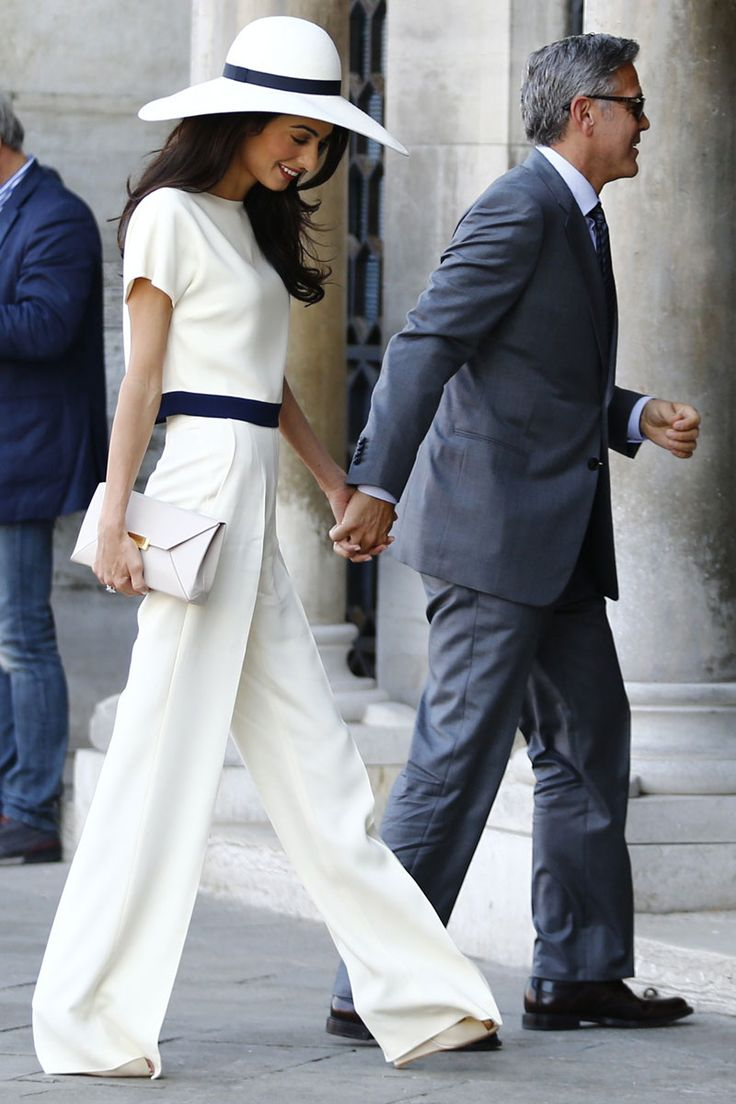 ok, the pants are too long--but, otherwise, GORGEOUS Elle calls it a jumpsuit but it looks like separates to me