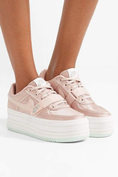 reputable site 75a43 46209 Nike - Vandal 2k Faux Leather-trimmed Metallic Faille Platform Sneakers -  Pink