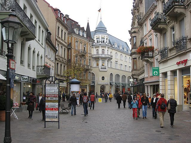 Baden Baden, Germany wonderful shopping and coffee outside at a cafe! My grandparents on my father's side came from here...