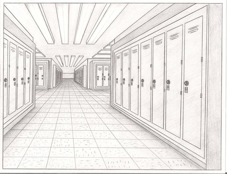 school hallway drawing - 900×694