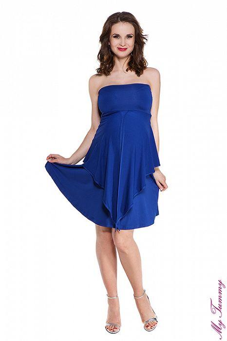 """Těhotenské šaty """"Emily"""" kobaltově modré - My Tummy - Elegantní a pohodlné těhotenské oblečení"""