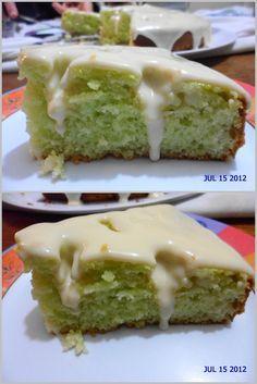 bolo verde diet de gelatina de limão