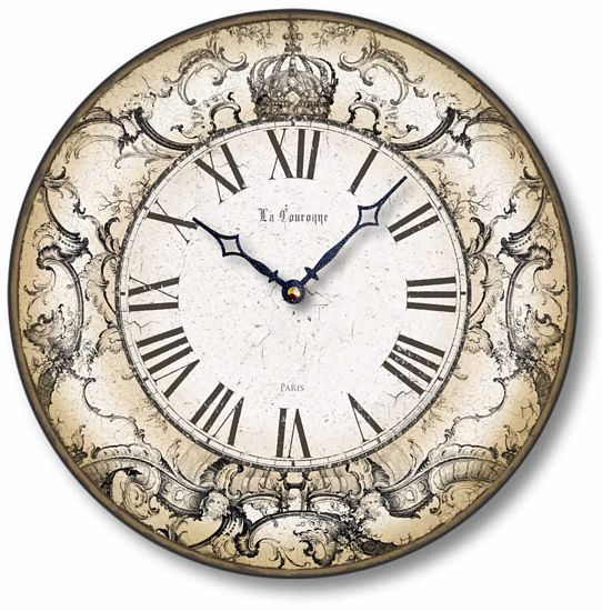Item C8240 Antique Style Crown Clock