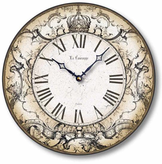 Item C8240 Antique Style Crown Clock