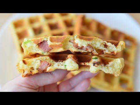 Вафли с беконом ☆ Waffles with bacon ☆ Идеальный завтрак - YouTube