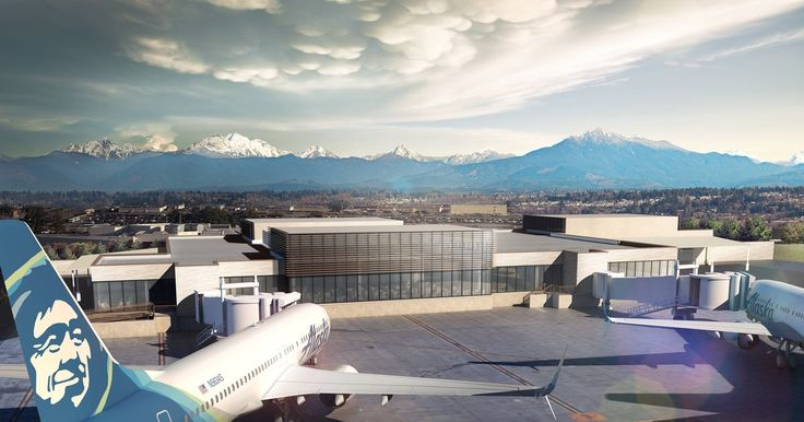 New look for Paine Field passenger terminal as construction begins - The Seattle Times