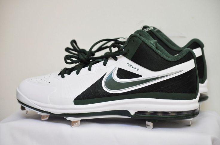 NIKE Air Max MVP Elite 3/4 Metal Baseball Cleats White Green  Medium (D, M) NEW #Nike