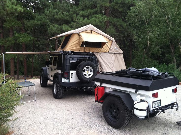 tent & trailer - the Hubz would love this.