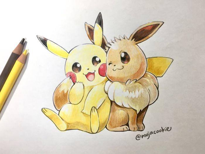 Dessin Pokemon Pikachu Couleur