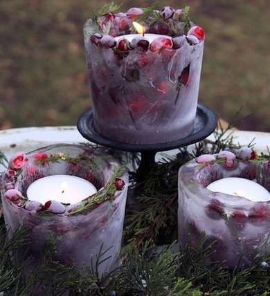 Frozen DIY Christmas luminaries
