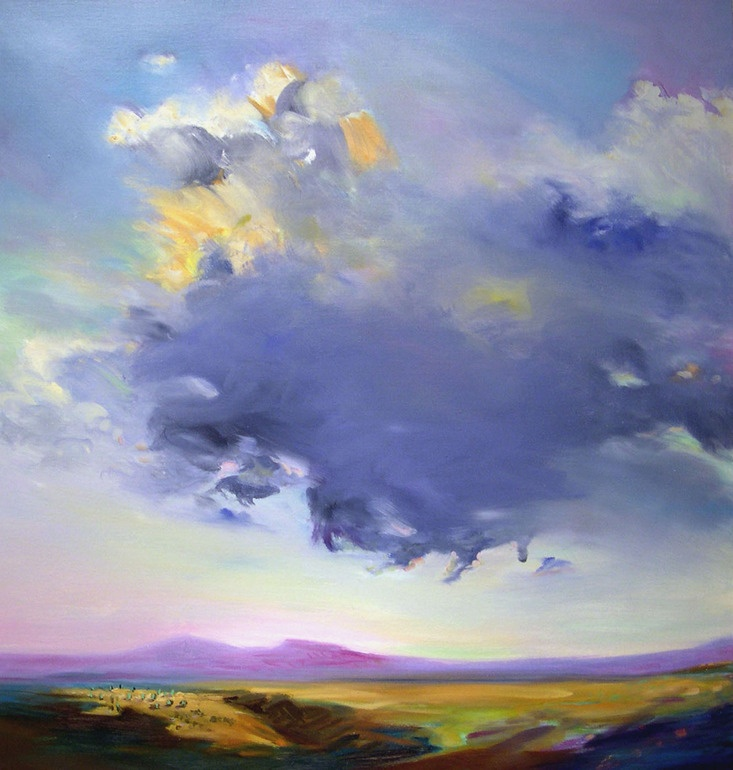 """Lee Bowers; Oil, 2010, Painting """"Seated Cloud"""""""