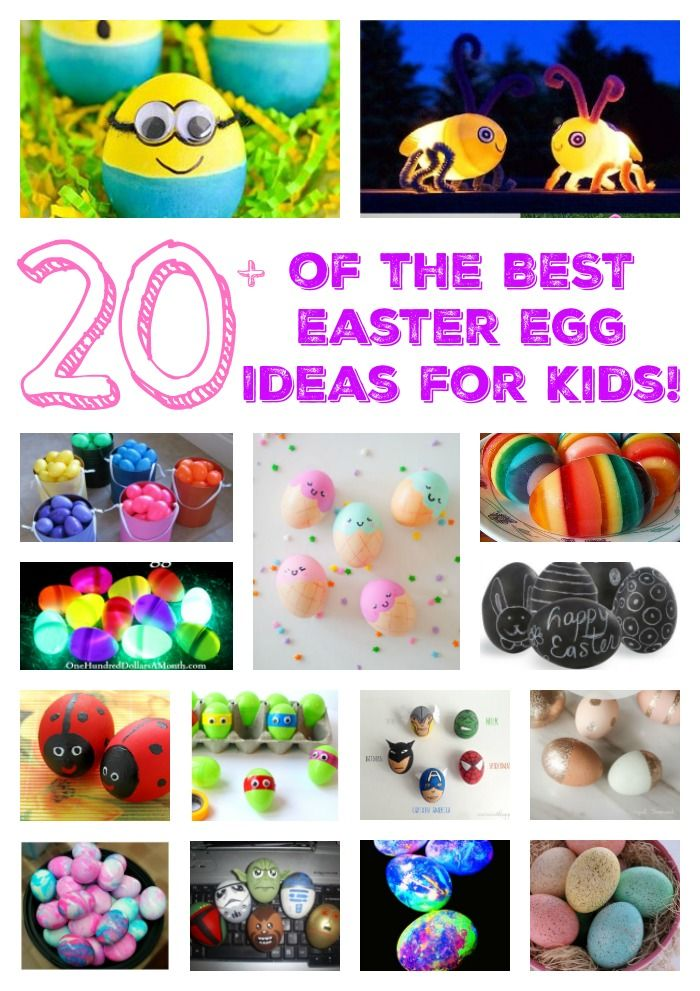 Easter Egg Ideas for Kids - over 20 ideas including painted eggs, egg crafts, edible Easter eggs, decorated plastic eggs, and glow in the dark Easter eggs!