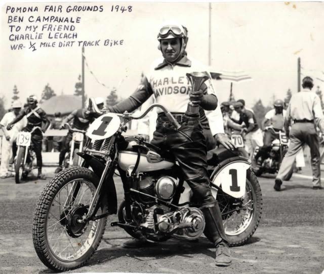 Ben Campanale, dirt tracker...Pomona Fairgrounds, 1948
