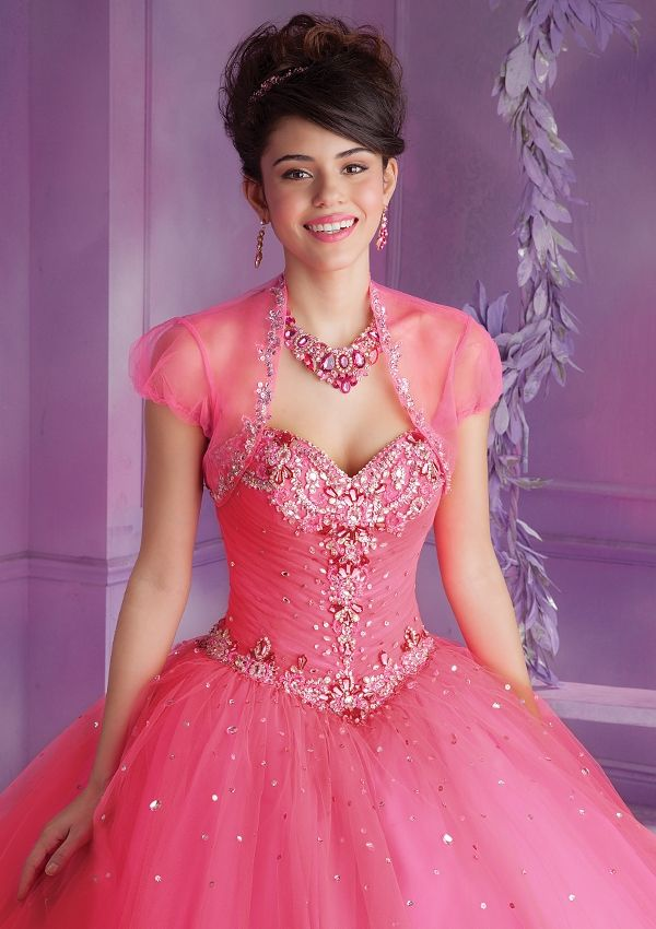 Quinceanera Gowns Style 89009: 89009 Tulle with embroidery and beading http://www.morilee.com/quinceanera/quinceanera_vizcaya/89009