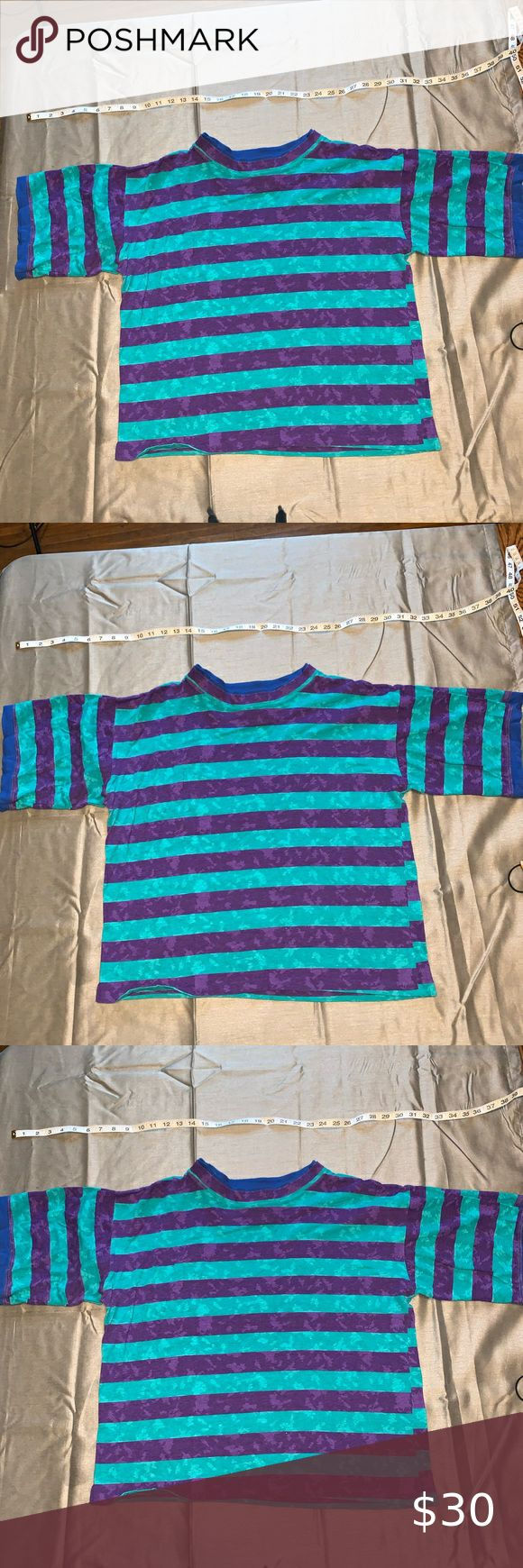Vintage Striped Tshirt Vintage Striped T Shirt Single Stitch Made In The Usa Size Xl Shirts Tees Short Sleeve In 2020 Stripe Tshirt Vintage Tee Shirts