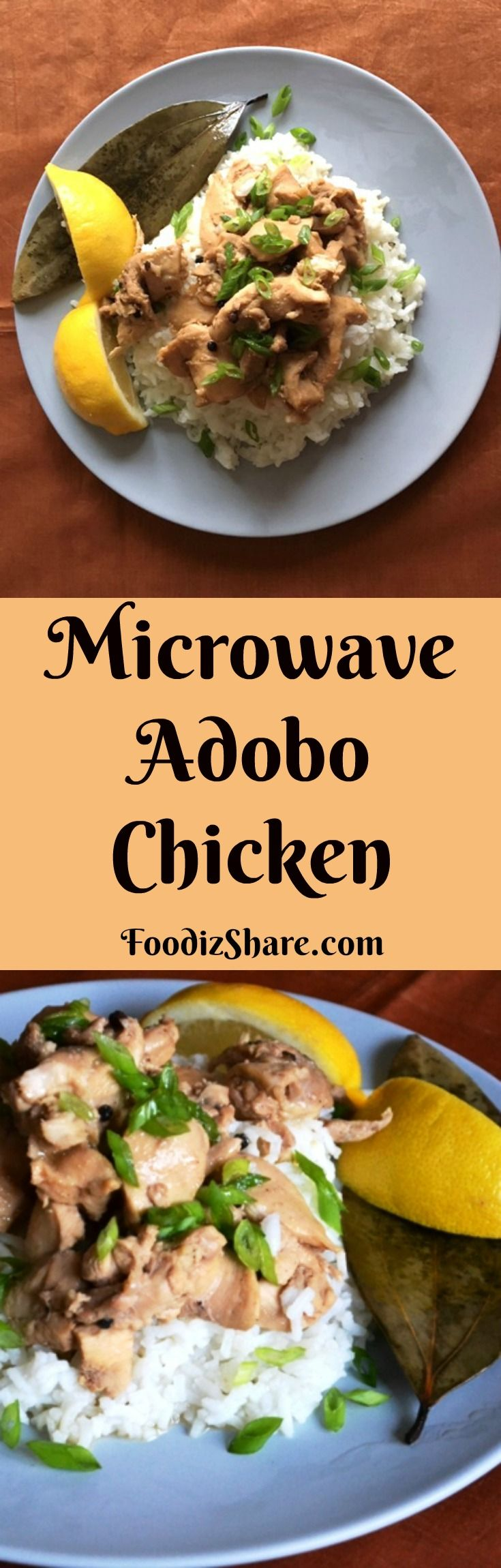 A delicious, quick & easy recipe for Chicken Adobo, the well loved classic Filipino dish. #recipes #delicious #easy #Healthy