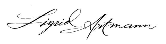 Artmann Sigrid Kalligrafie und Schriftkunst Ludwigsburg - Impressum