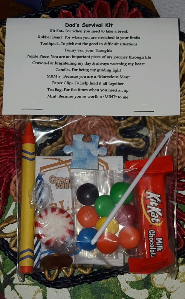Dad's / Fathers Survival Kit * 11 items inside- Novelty gift in Home & Garden, Greeting Cards & Party Supply, Party Supplies | eBay