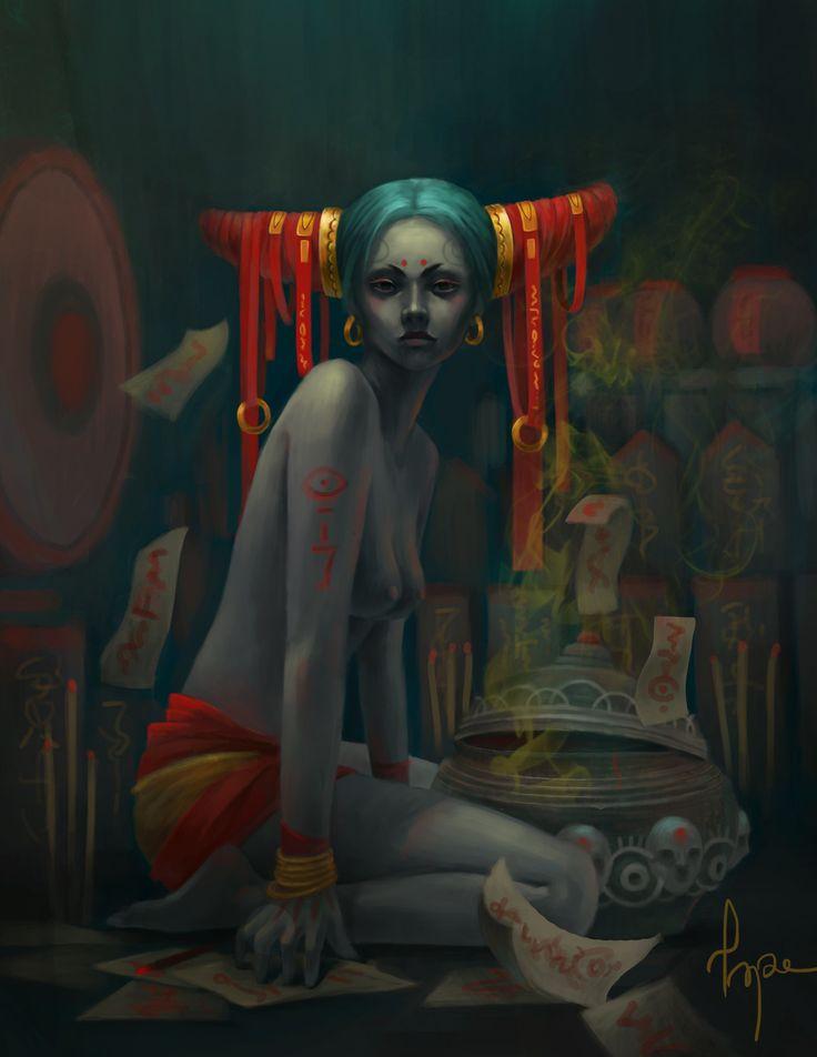 leprechaun, Shine Quang on ArtStation at https://www.artstation.com/artwork/yRoXn