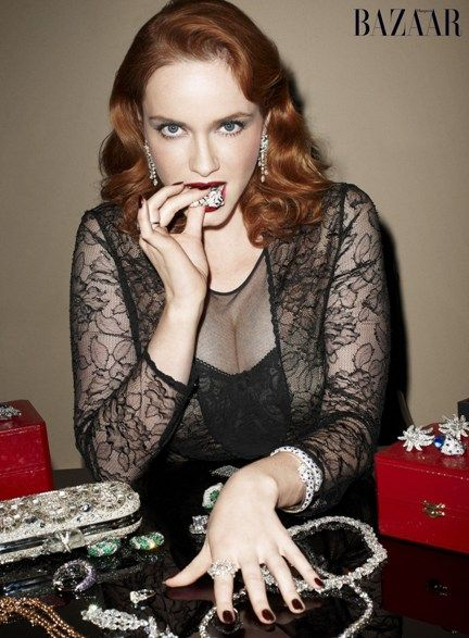 Christina Hendricks wows as Harpers Bazaar cover girl
