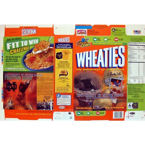 Charlie Weis 2006 Notre Dame Wheaties Box - Charlie Weis graduate of the University of Notre Dame made his name in the coaching world as the offensive coordinator of the New England Patriots. After helping them to win four different Super Bowls Weis then decided to return to his alma mater as the head football coach. Charlie Weis has hand signed this commemorative 2006 Notre Dame Wheaties cereal box. A Steiner Sports Certificate of Authenticity is included. Gifts > Licensed Gifts > Ncaa…