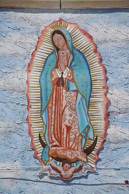 Guadalupe white de candles veladora virgin