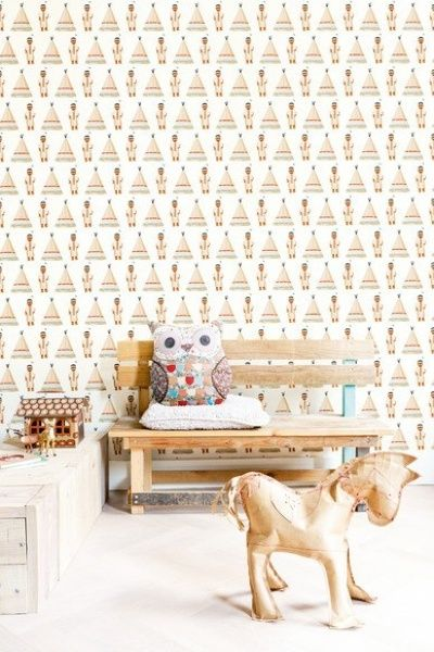 Indian tipi wallpaper | Products | Studio ditte