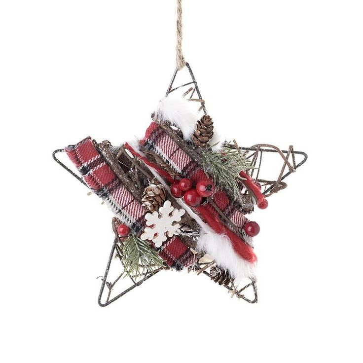 Christmas Wooden Star - Balls - Ornaments - Christmas - SEASONAL