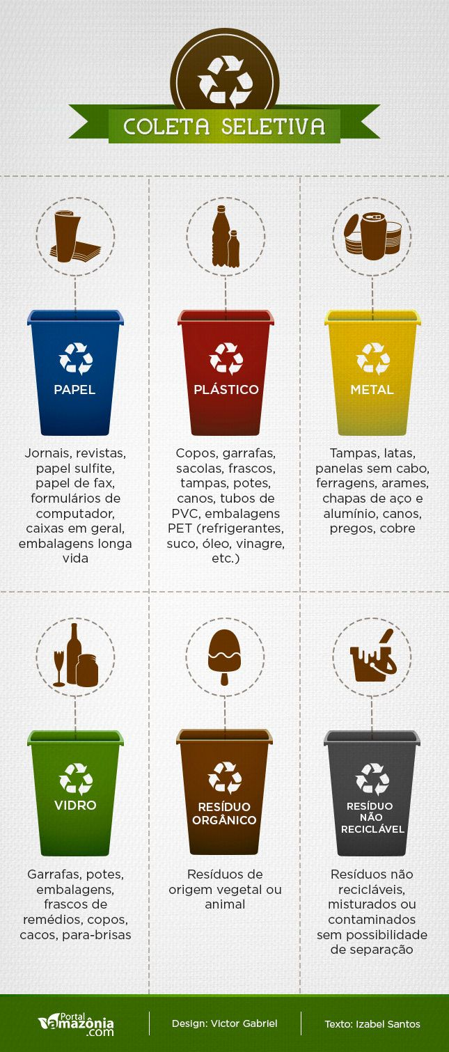 Infográfico sobre a Coleta seletiva