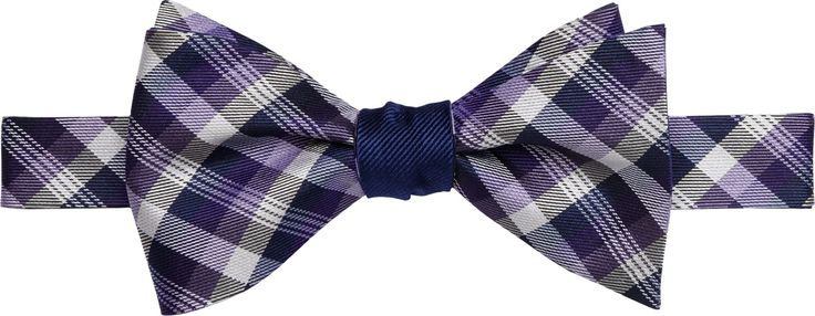 Jos. A. Bank Plaid Check Self-Tie Bow Tie