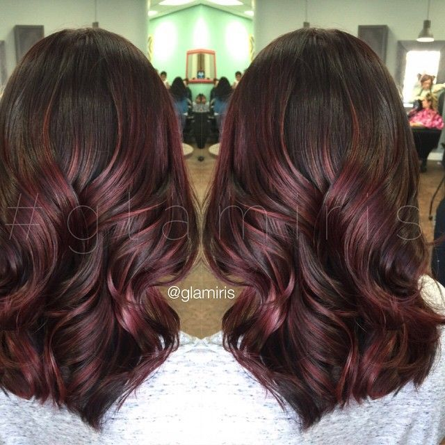 Purple Highlights On Black Hair Ombre And Colored Hair