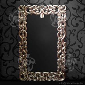Pigura Kaca Cermin Hias Dinding Emas