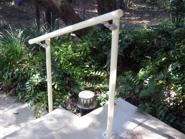 Installing an outdoor railing on the steps of your home or business does not need to be complicated or expensive. Simple Rail handrail kits make it easy to install handrail on outdoor stairs. We have a variety of stair railings that are fully galvanized to stand up to tough outdoor conditions.