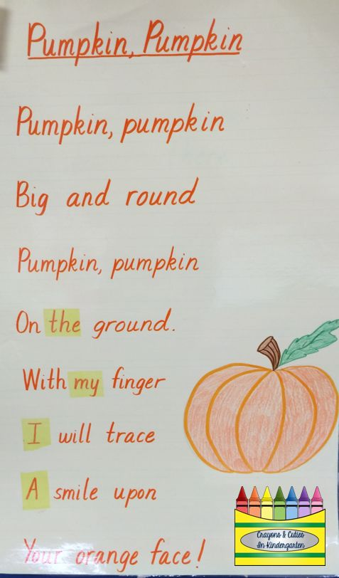pumpkin rhymes preschool 17 best images about school days poems on 206