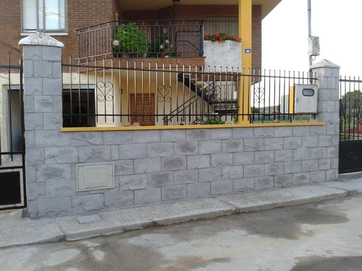 1000 images about muros paredes y vallas thermostone on - Vallas de forja ...