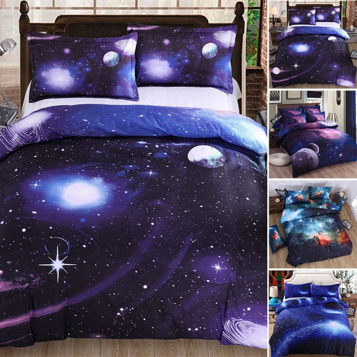 3D Bedding Galaxy Sky Bed Set Outer Space Single Queen Duvet Cover Winter Warm | Home, Furniture & DIY, Bedding, Bed Linens & Sets | eBay!