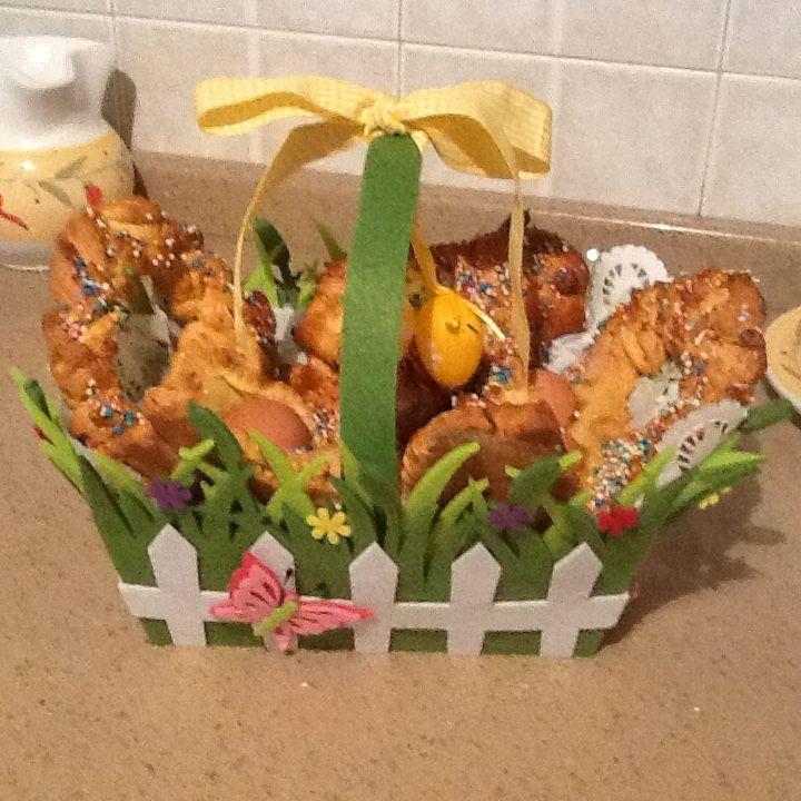 Cestino di cuddure da regalare a Pasqua!