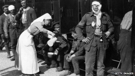 """Read excellent article """"World War One: The many battles faced by WW1's nurses""""  http://www.bbc.com/news/magazine-26838077"""