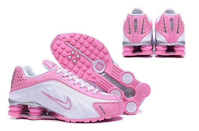 nike shox r4 feminino rosa