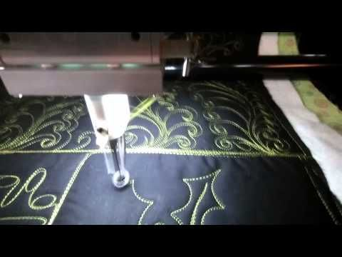 #FMQ101 ( Video #11 - Simple Holly Leaves) Longarm Free Motion Quilting ...