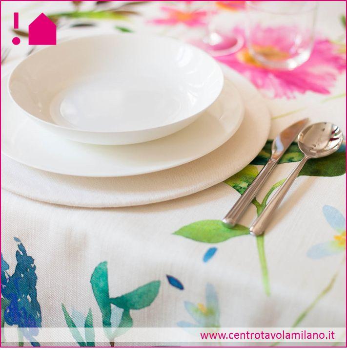 Tovaglia Fiori -Flower tablecloth -Collezione primavera 2014 Centrotavola Milano.