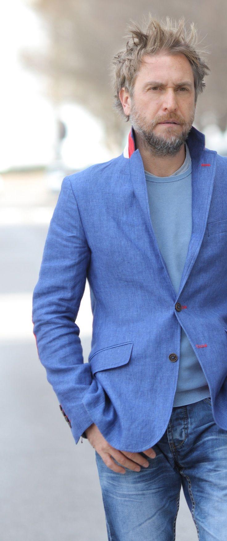 miGUEL HERRANZ > photo by Víctor Cucart via Instagram @miguelherranz_design | victorcucart | men style | cool | photographer | fashionart | artwork | design | designer | jacket | blue blazer | el ganso | men's fashion | casual wear | my style | man | photography | portrait | designers