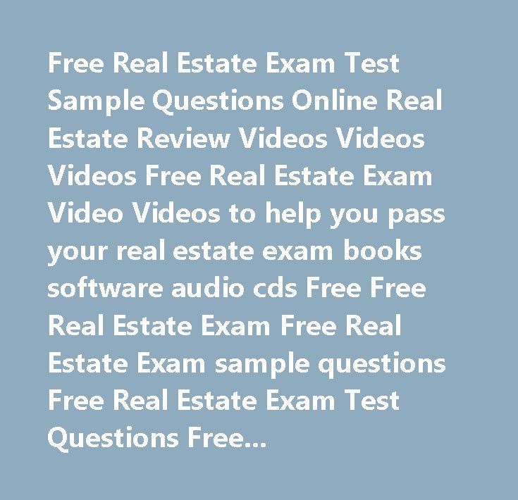 25+ best ideas about Real estate exam on Pinterest
