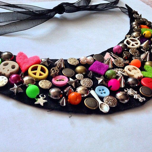 Rengarenk yaka kolye :)  Colourful necklace :)