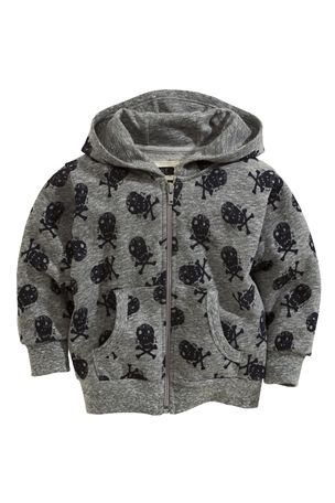 Grey Skull Sweat (3mths-6yrs)