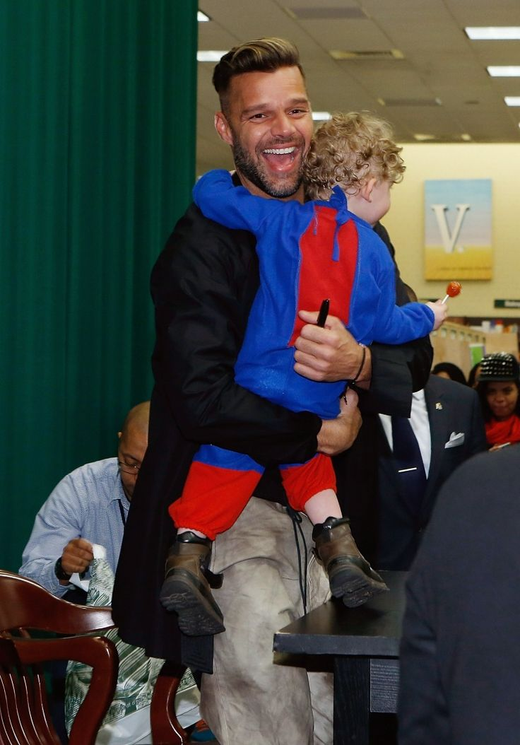 Free hugs for everyone. Ricky Martin embraces a young fan after signing his new children's book, Santiago The Dreamer In Land Among The Stars, on Nov. 12 in New York: Free Hug, Rickymartin, Fans, Book Santiago, Ricky Martin, Childrens Books, Martin Signs, Bilingual Children, Children Book