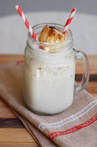 toasted marshmallow milkshake yummy