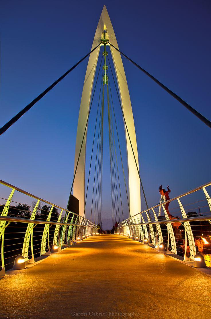 Rving Keeper Of The Plains Walking Bridge In Wichita