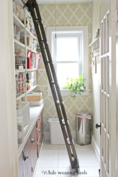 Love This Rolling Library Ladder Perfect For Tall
